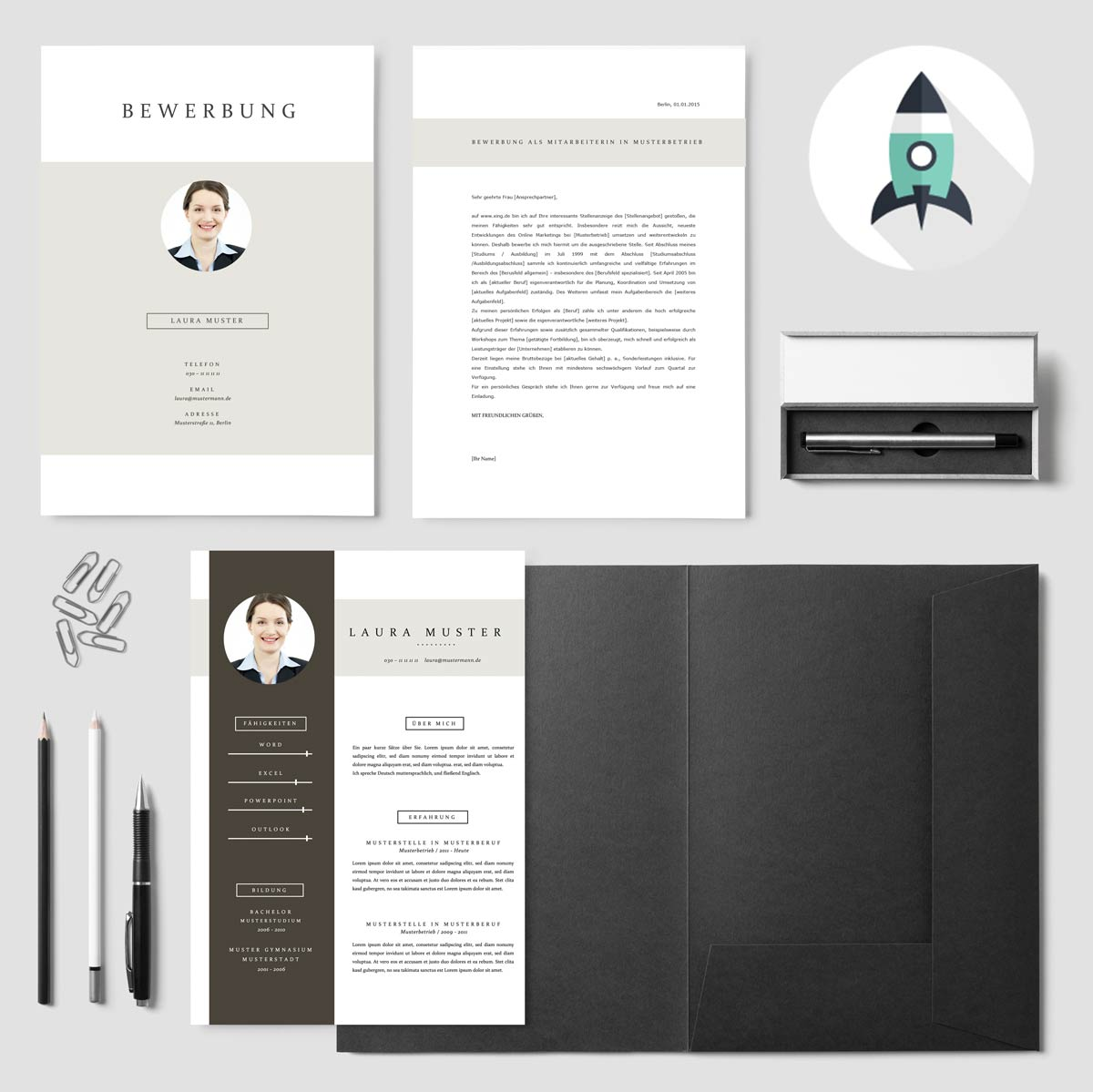 Kreative Word Bewerbungsvorlage von Premiumdesignvorlagen.